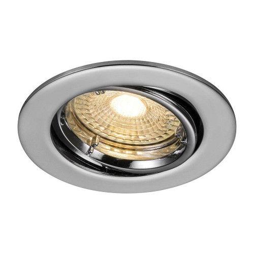 Nordlux Carina 2700K Three Pack Dimmable Tilt Chrome Round Recessed Downlight