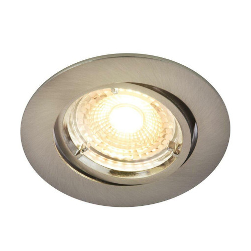 Nordlux Carina 2700K Three Pack Dimmable Tilt Nickel Round Recessed Downlight