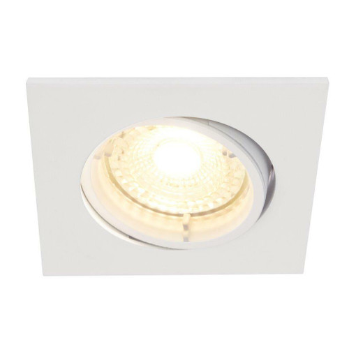 Nordlux Carina 2700K Three Pack Dimmable Tilt White Square Recessed Downlight