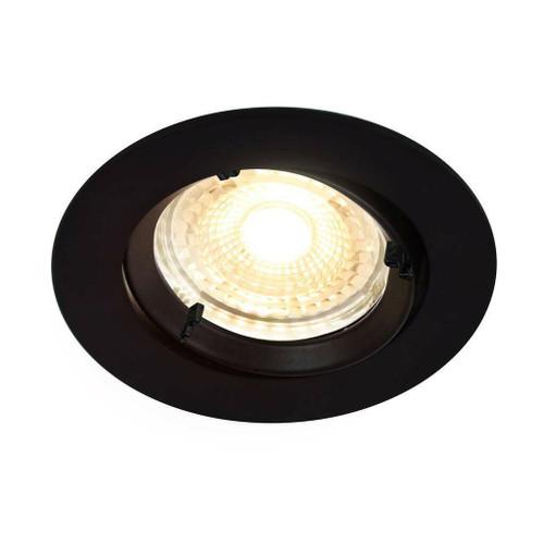 Nordlux Carina Smart Light Three Pack Tilt Black Round Recessed Downlight