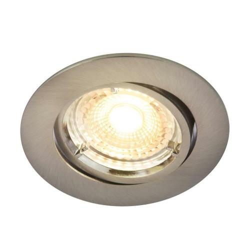 Nordlux Carina Smart Light Three Pack Tilt Nickel Round Recessed Downlight