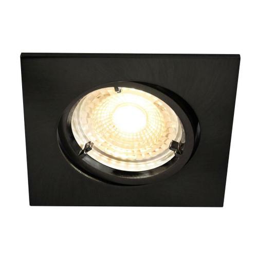 Nordlux Carina Smart Light Three Pack Tilt Black Square Recessed Downlight