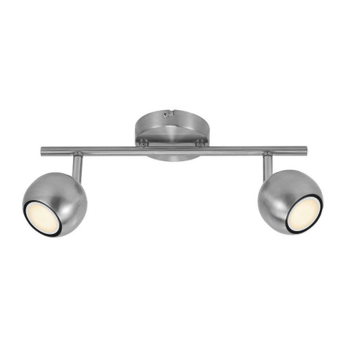 Nordlux Chicago 2 Light Brushed Steel Bar Spotlight