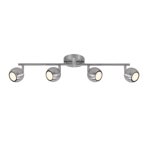 Nordlux Chicago 4 Light Brushed Steel Bar Spotlight