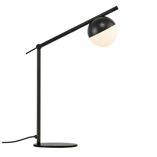 Nordlux Contina Black with White Opal Glass Table Lamp