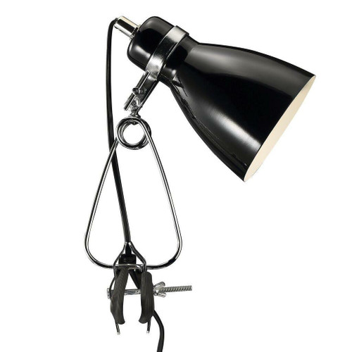 Nordlux Cyclone Black and Silver Clamp Spotlight
