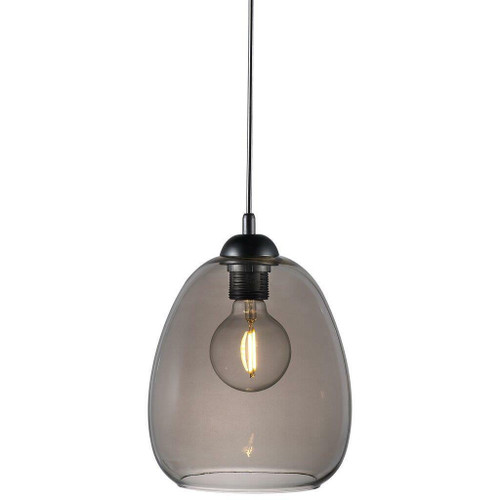 Nordlux Dillon Black with Smoked Glass Pendant Light