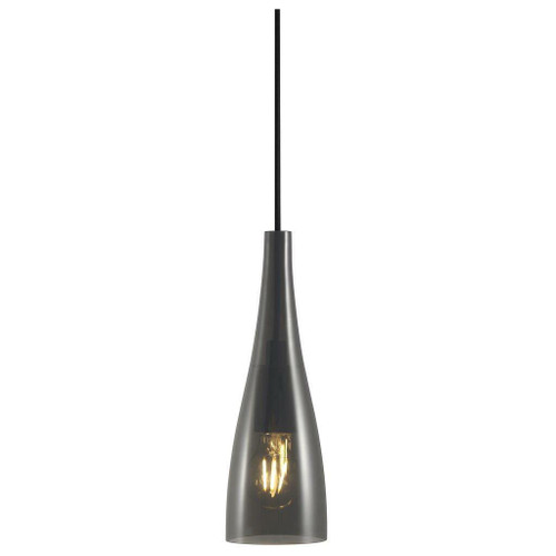 Nordlux Embla Black with Smoked Glass Pendant Light