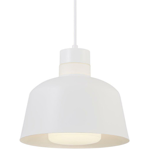 Nordlux Emma 25 White with White Opal Glass Pendant Light