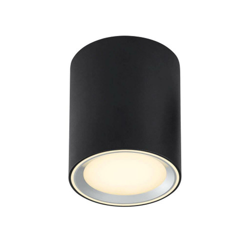 Nordlux Fallon Long Black with Brushed Steel Trim Surface Ceiling Light