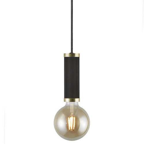 Nordlux Galloway Black with Brass Detail Pendant Light