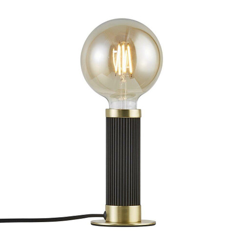 Nordlux Galloway Black with Brass Detail Table Lamp