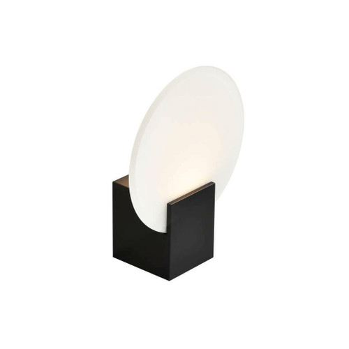 Nordlux Hester Black with Circular Frosted Glass Wall Light