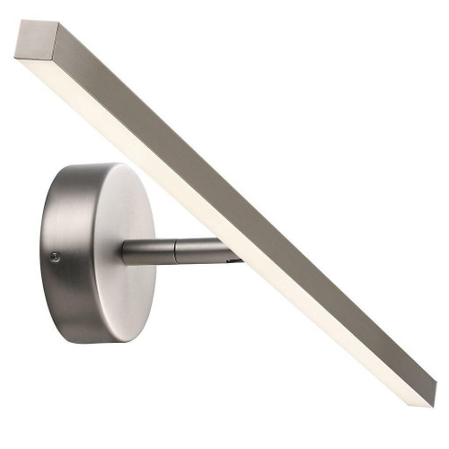 Nordlux IP S13 60 LED Brushed Steel Picture or Bathroom IP44 Mirror Wall Light