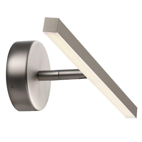 Nordlux IP S13 40 LED Brushed Steel Picture or Bathroom IP44 Mirror Wall Light