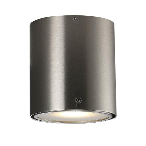 Nordlux IP S4 Brushed Steel with Frosted Glass Bathroom IP44 Surface Ceiling Light