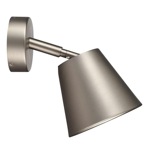 Nordlux IP S6 Brushed Steel with Satinated Glass Adjustable Bathroom IP44 Wall Light