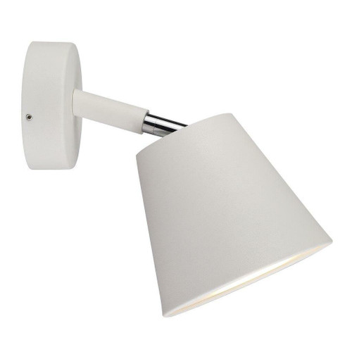 Nordlux IP S6 White with Satinated Glass Adjustable Bathroom IP44 Wall Light