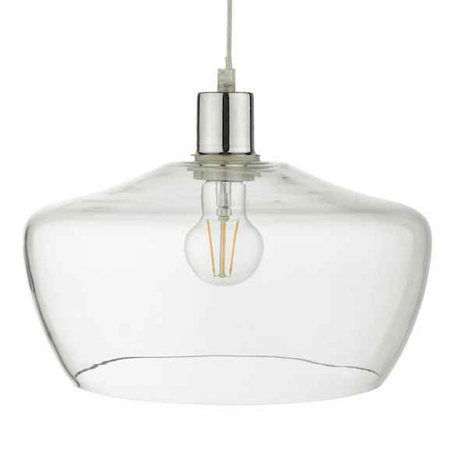 Fidella Clear Glass Non Electric Easy Fit Pendant Light