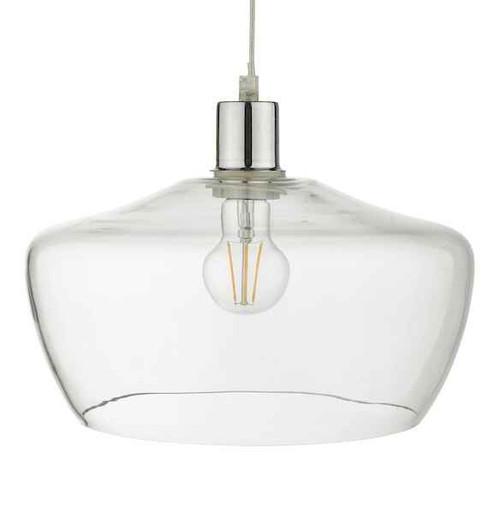 Fidella Clear Glass Non Electric Easy Fit Pendant Light