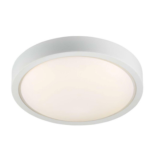 Nordlux IP S9 White with White Opal Glass IP44 Surface Ceiling Light