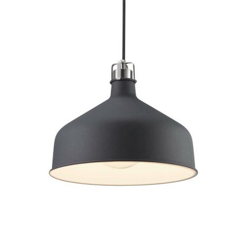 Nordlux Kingston Black with Chrome Detail Pendant Light