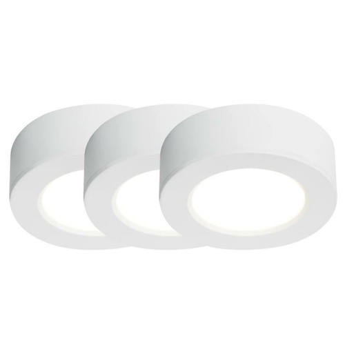 Nordlux Kitchenio Three Pack Hybris White Recessed or Surface Downlight