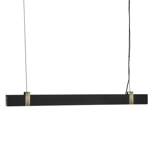 Nordlux Lilt Black with Brass Detail Bar Pendant Light