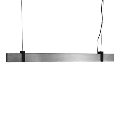 Nordlux Lilt Brushed Steel with Black Detail Bar Pendant Light