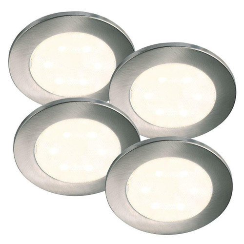 Nordlux Lismore Four Pack Chrome with Clear Glass Recessed Downlight