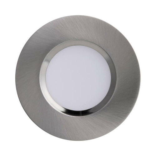 Nordlux Mahi Single Brushed Nickel with White Glass IP65 Recessed Downlight