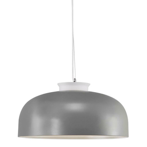 Nordlux Miry Grey with White Detail and White Opal Glass Pendant Light