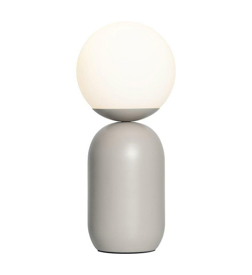 Nordlux Notti Grey with White Opal Glass Table Lamp