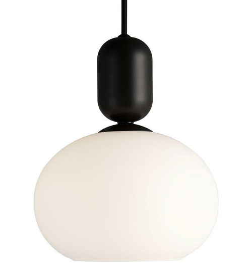 Nordlux Notti Mocha with White Opal Glass Pendant Light
