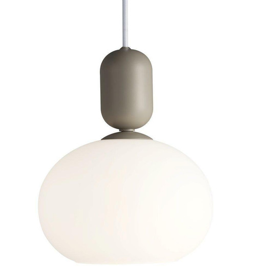 Nordlux Notti Grey with White Opal Glass Pendant Light