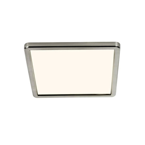 Nordlux Oja 29x29 IP20 3000K/4000K Brushed Nickel with White Glass Ceiling Light