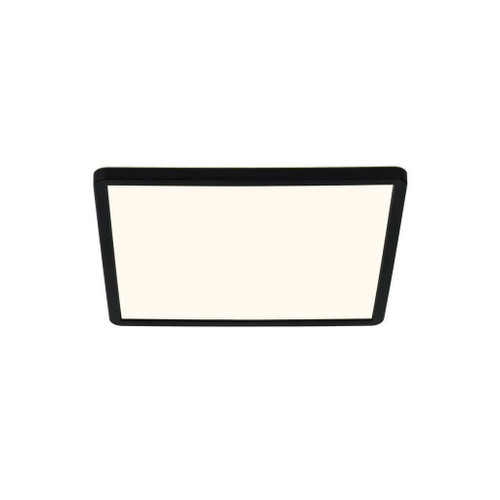 Nordlux Oja 29x29 IP54 BATH 3000K/4000K Black with White Glass Ceiling Light