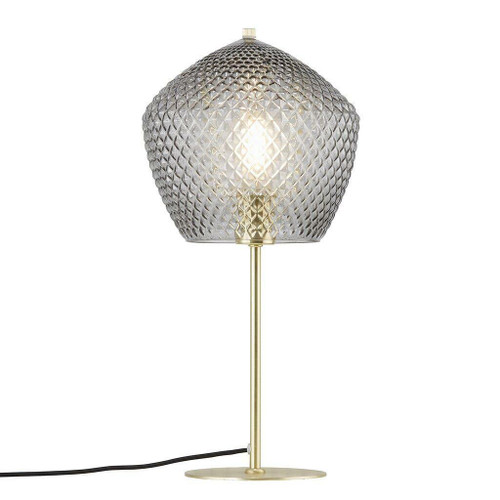 Nordlux Orbiform Brass with Smoked Glass Table Lamp