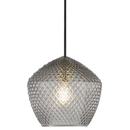 Nordlux Orbiform Brass with Smoked Glass Pendant Light