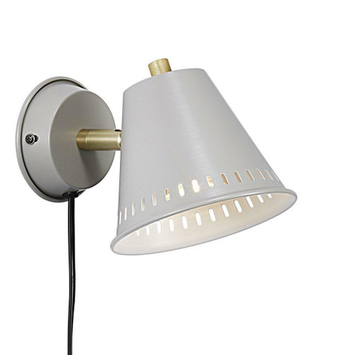 Nordlux Pine Grey with Brass Detail Wall Light