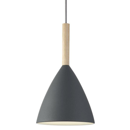 DFTP Pure 20 Grey with Wooden Detail Pendant Light