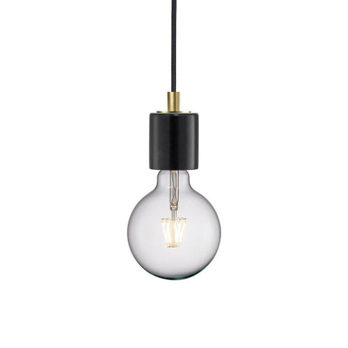 Nordlux Siv Black with Brass Detail Pendant Light