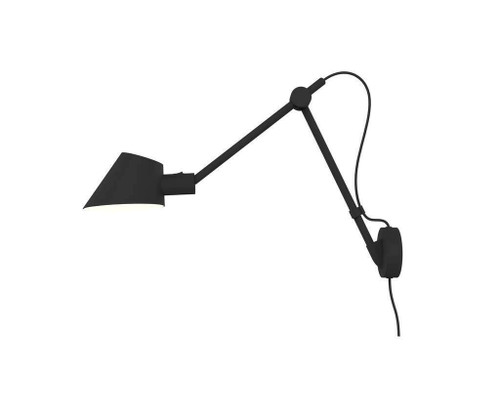 DFTP Stay Long Wall Black Adjustable Wall Light