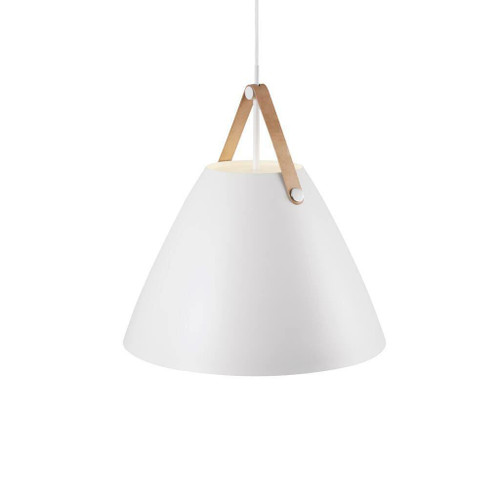 DFTP Strap 48 White with Leather Strap Pendant Light
