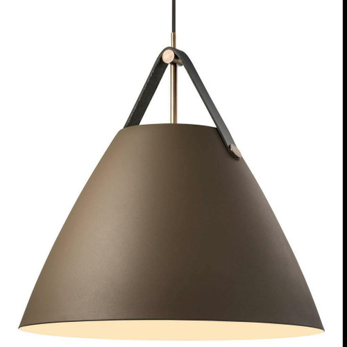 DFTP Strap 48 Beige with Leather Strap Pendant Light