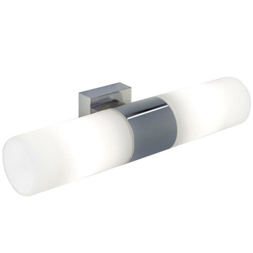 Nordlux Tangens 2 Light Chrome with White Opal Glass Bathroom Wall Light