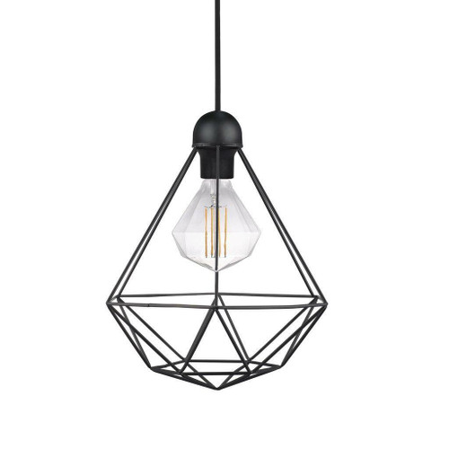 Nordlux Tees Black Caged Pendant Light