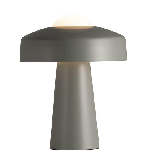 Nordlux Time Grey with White Opal Glass Table Lamp