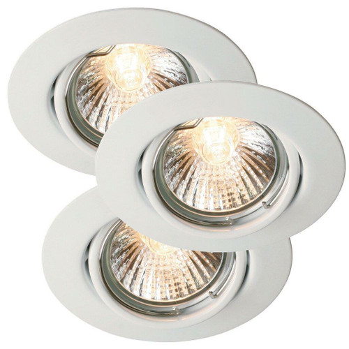 Nordlux Triton Three Pack White Tilt Recessed Downlight
