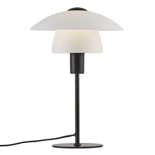 Nordlux Verona Black with White Opal Glass Table Lamp